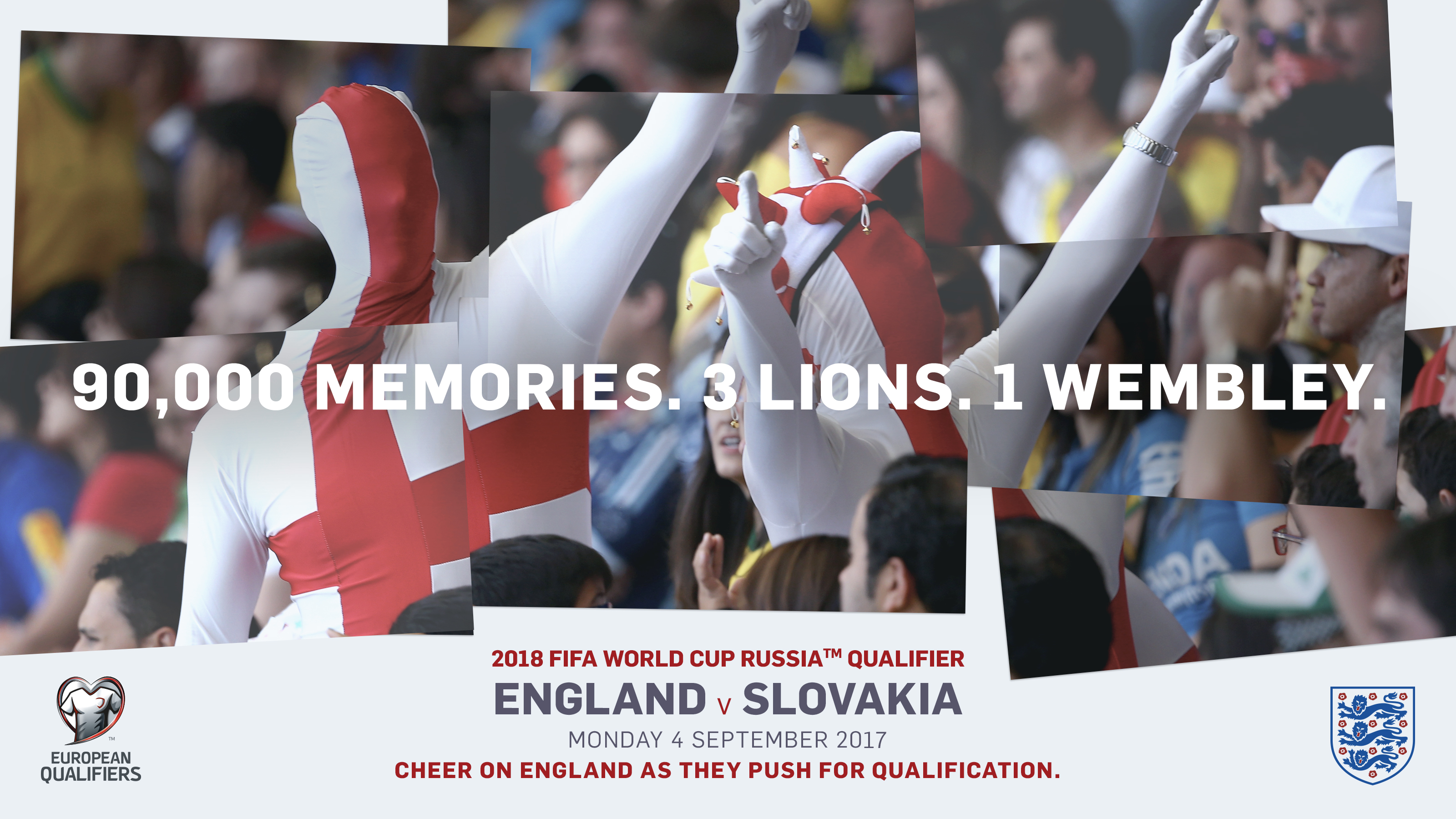 Tickets for England v Slovakia now on general sale