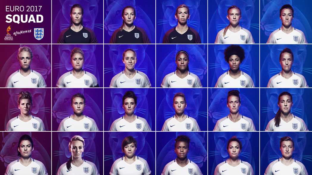 Lionesses head coach Mark Sampson reveals EURO 2017 squad